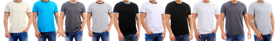 T-shirt on a young man Royalty Free Stock Photo