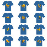 T-shirt of zodiac Stock Photos