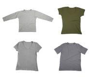 T shirtblank kleding Royalty-vrije Stock Foto's
