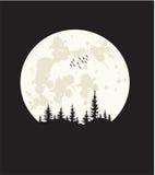 T-shirtontwerp - maanlicht Stock Foto