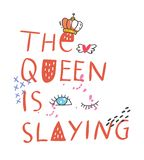T-shirtontwerp met citaten en flarden royalty-vrije illustratie