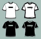 T-shirts. A set of 4 t-shirt symbols Stock Photography