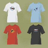 T-shirts with airplane designs Stock Images