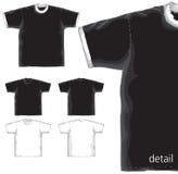 T-shirts basics models. Stock Photo