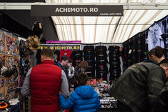 T-shirts being sold at a booth at Bucharest Auto Show, April 4 2015. Stock Photo