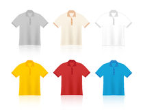 T-shirts blank templates Royalty Free Stock Photography