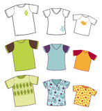 T-shirts collection Stock Photo