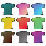 T shirts collection against white Stock Photography