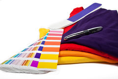 T-shirts and color scale Royalty Free Stock Photography