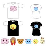 T-shirts with cute animals Stock Images
