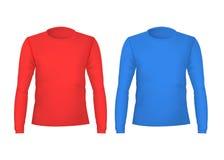 T-shirts détaillé réaliste de couleur de blanc du calibre 3d avant et arrières Vecteur illustration de vecteur