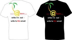 T-shirts de conception pour la copie d'adresse postale de loisirs Photographie stock libre de droits
