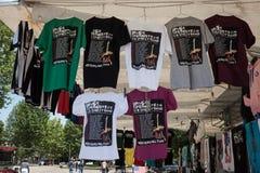 T-shirts de tour du monde 2013 de Springsteen photos stock