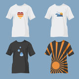 T-shirts with designs Stock Photo