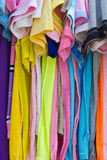 T-shirts with different colors. Stock Images