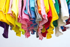 T-shirts with different colors. Stock Photography