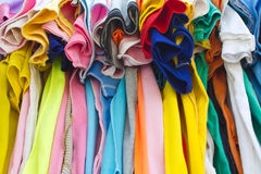 T-shirts with different colors. Royalty Free Stock Photos