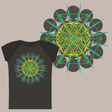 T-shirts with Flower of Life seed Stock Photography