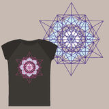 T-shirts with Star Tetrahedron print Royalty Free Stock Photography