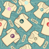 T shirts fashion.Vector seamless pattern backgroun Royalty Free Stock Photos