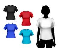 T-shirts female set Royalty Free Stock Images