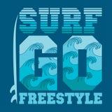 T-Shirts gehen zu surfen, Miami Beach, Florida-Surfen Lizenzfreie Stockfotografie