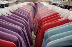 T-shirts on the hanger Royalty Free Stock Images