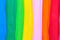 T-Shirts hergestellt von der Baumwolle und von der Faser Stockfotografie