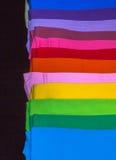 T-Shirts hergestellt von der Baumwolle und von der Faser Lizenzfreies Stockfoto