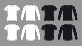 T-Shirts Ikonen in den Schwarzweiss-Farben Stockfotos