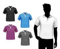 T-Shirts männlicher Polosatz Lizenzfreie Stockfotografie