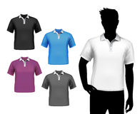 T-Shirts männlicher Polosatz vektor abbildung