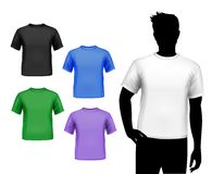 T-shirts male set Royalty Free Stock Image