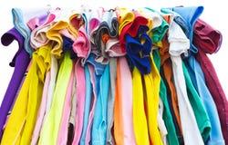 T-shirts met verschillende kleuren. Royalty-vrije Stock Foto