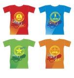 T-Shirts mit einer neuen Ansammlung vektor abbildung