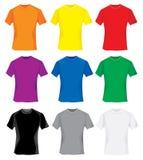 T-shirts multicolores Photos libres de droits