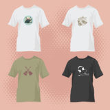 T-shirts with music designs Stock Image