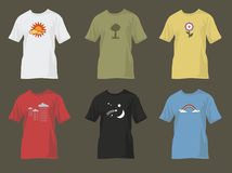 T-shirts with nature motifs Royalty Free Stock Photography