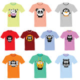 T-shirts with pictures of animals  illustration Royalty Free Stock Photos