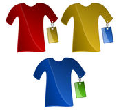 T-Shirts with Price Tags stock images