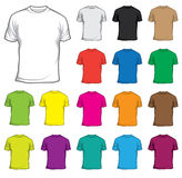 T-shirts. Set of colored T-shirts 1 Royalty Free Stock Photography