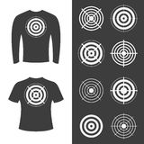 T-shirts with target. Royalty Free Stock Photography