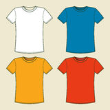 T-shirts template Royalty Free Stock Photos