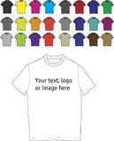 T-shirts templates Royalty Free Stock Photography