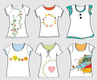T-shirts templates set Royalty Free Stock Image