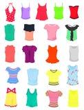 T-Shirts und Trägershirts lizenzfreie abbildung