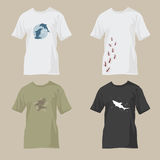 T-shirts with wildlife designs Royalty Free Stock Photo