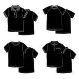 T-shirts zwart royalty-vrije stock foto's
