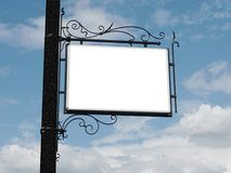 tła signboard niebo Obraz Royalty Free
