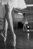 Tęsk nogi balerina w toeshoe Obraz Royalty Free